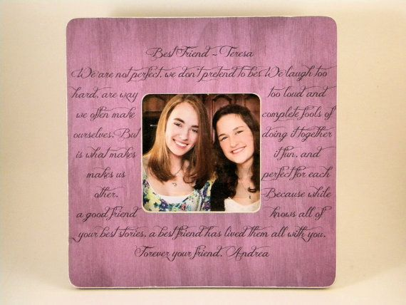 Best Friend Picture Frame Poem Quote Custom by PersonalizedFrames1 ...
