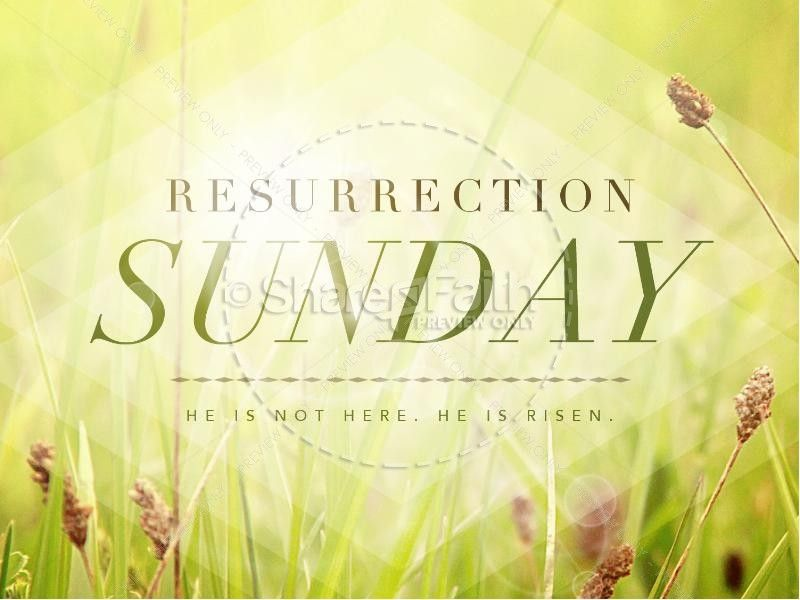 Resurrection Sunday He Is Risen Easter Powerpoint Graphics  Easter