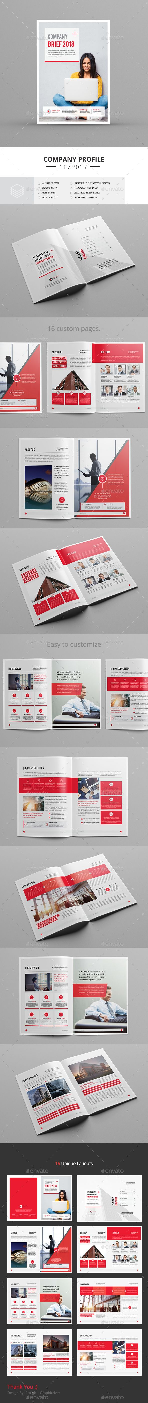 Creative Brief Template Indesign Indd Brochure Templates