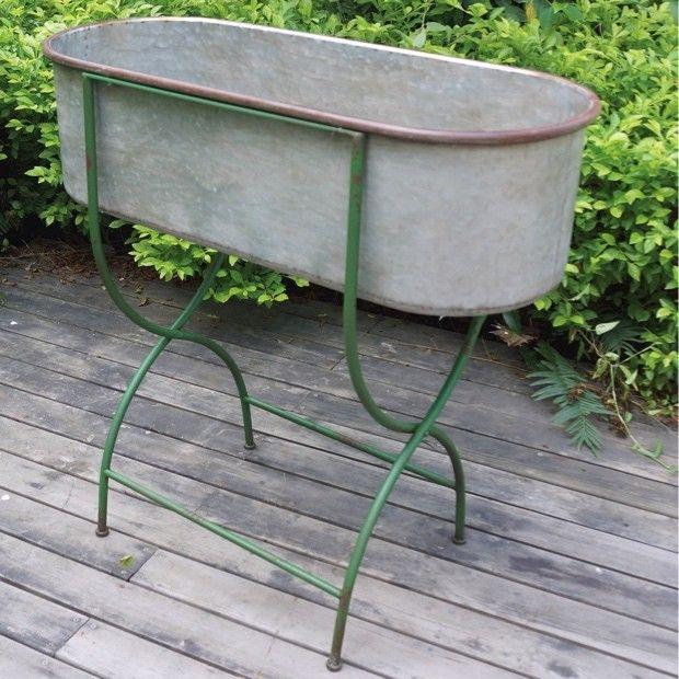Metal Tub Planter Stand Metal Tub Planter Stand Outdoor Garden Planters