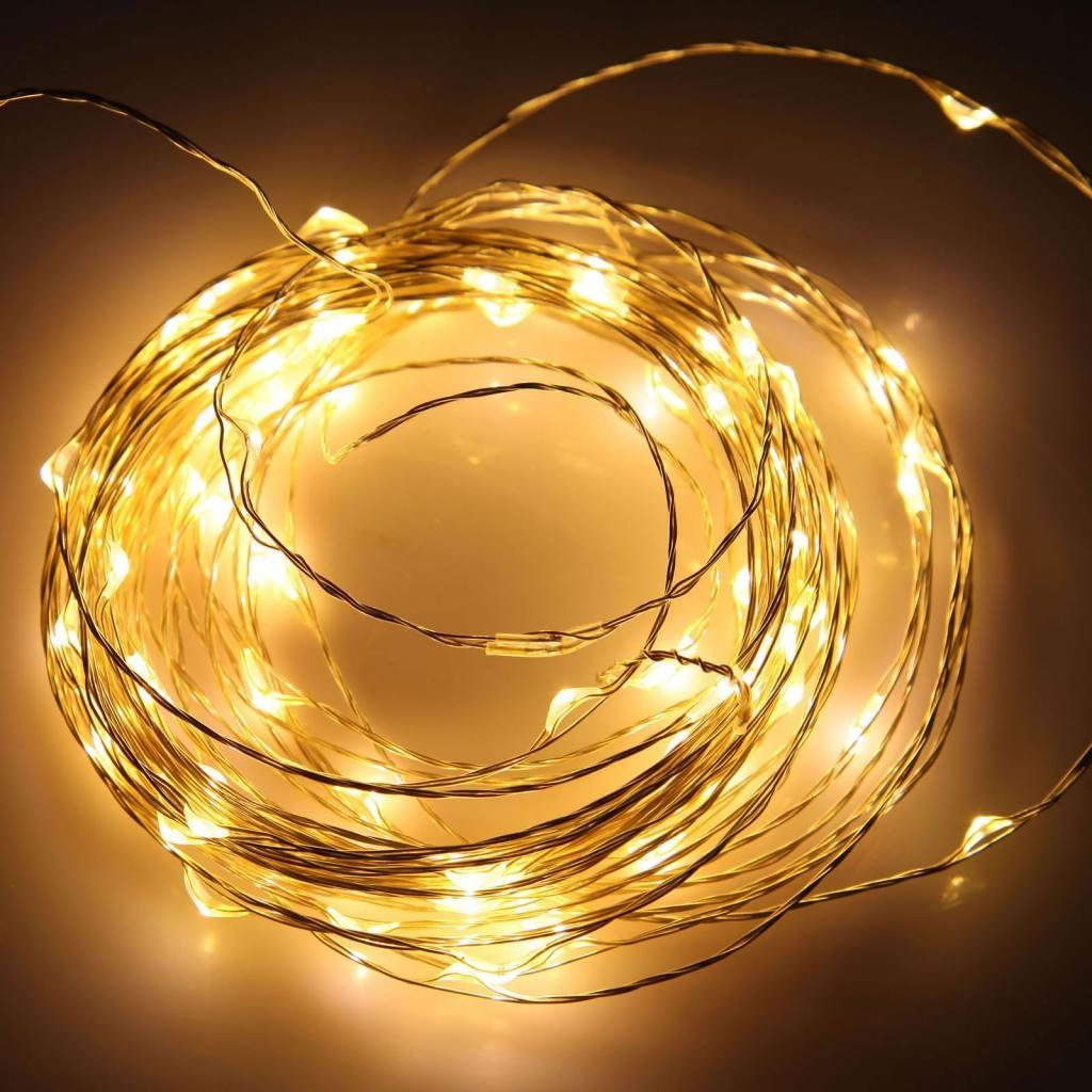 12v Dc 10m 33ft 100 Warm White Micro Drop Led String Fairy Light For 100leds Copper Wire Strip Lights Festival Lighting Christmas Wedding Halloween Poweradapter Amazoncouk Kitchen