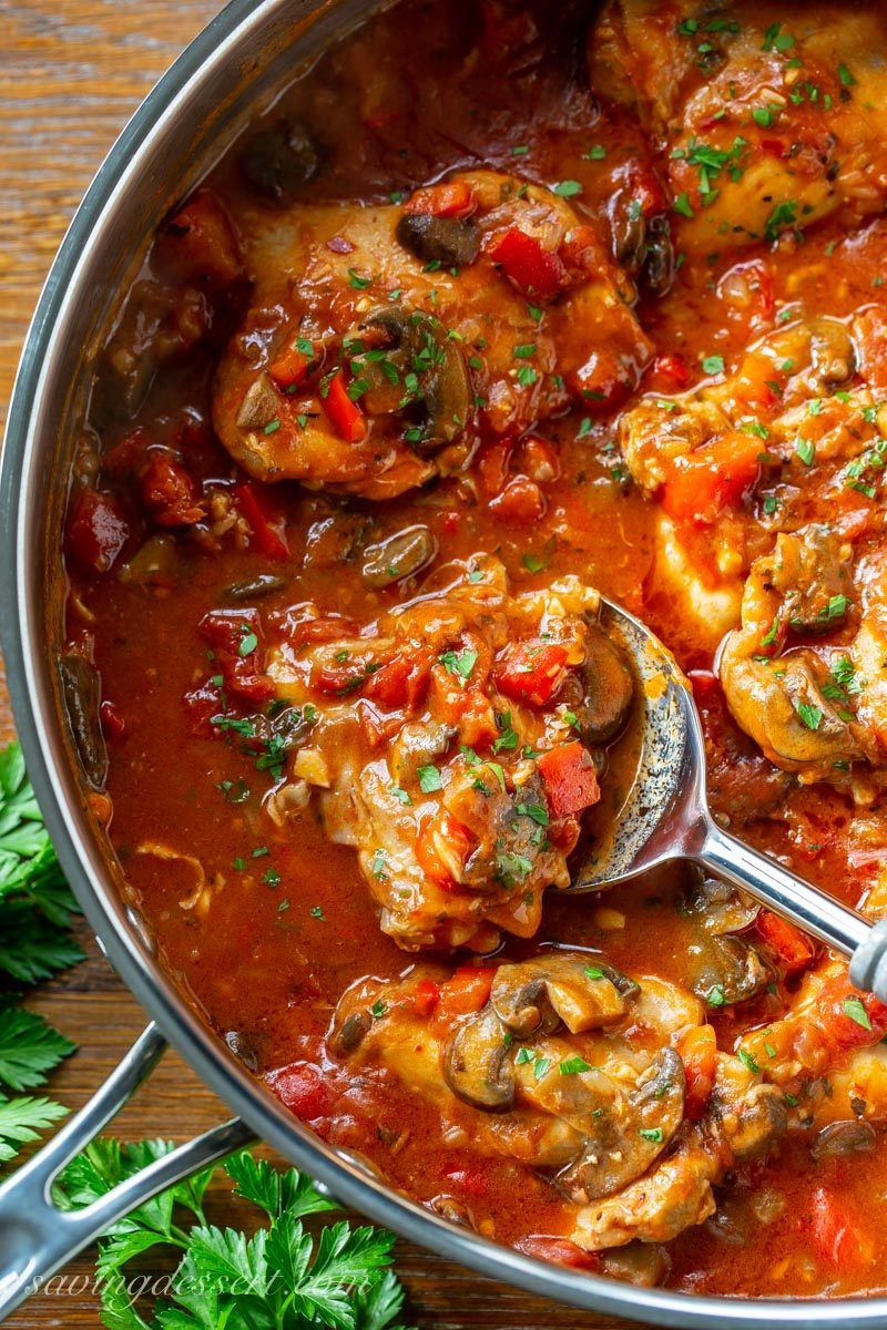 Chicken Cacciatore Recipe Cacciatore Recipes Chicken