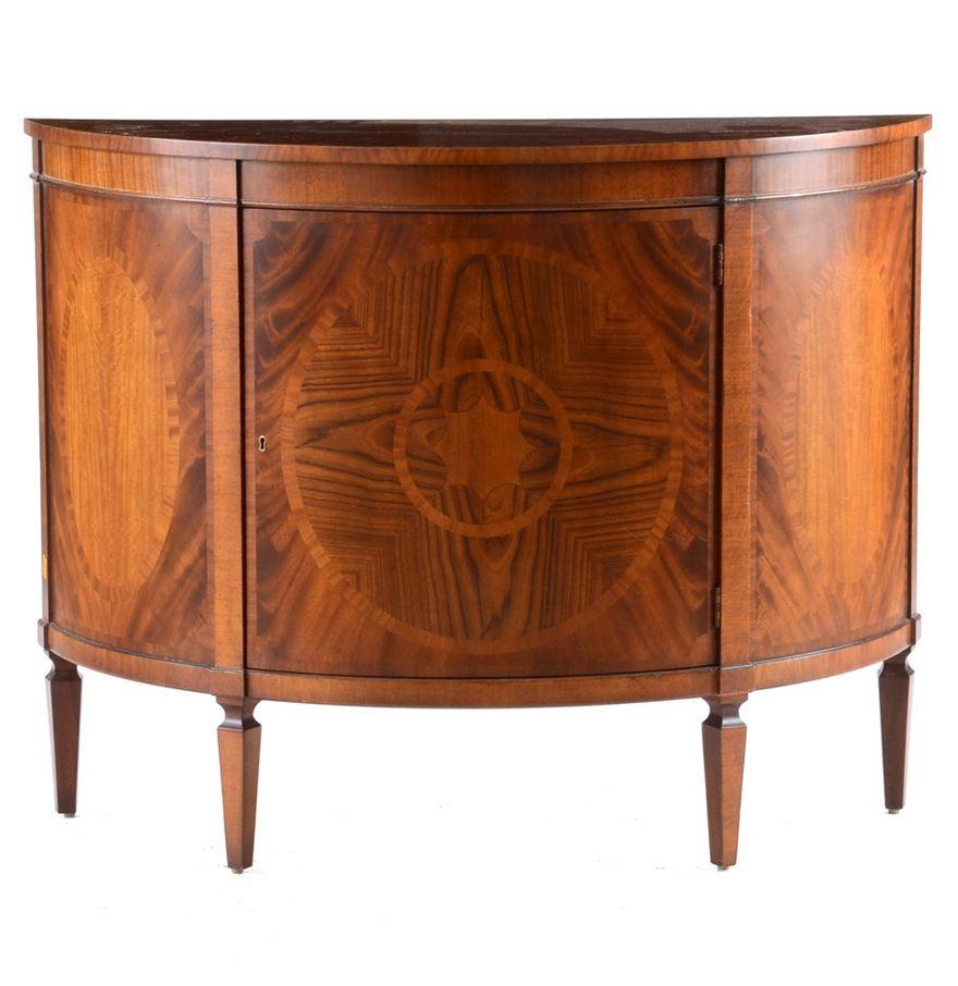Baker Hepplewhite Style Demi Lune Cabinet Bath And Doors