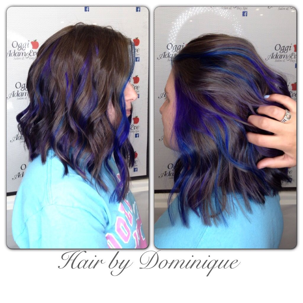 Purple And Blue Peek A Boo Highlights Deerenzi22 On Instagram Kids Hair Color Hair Color Pastel Purple Hair Highlights