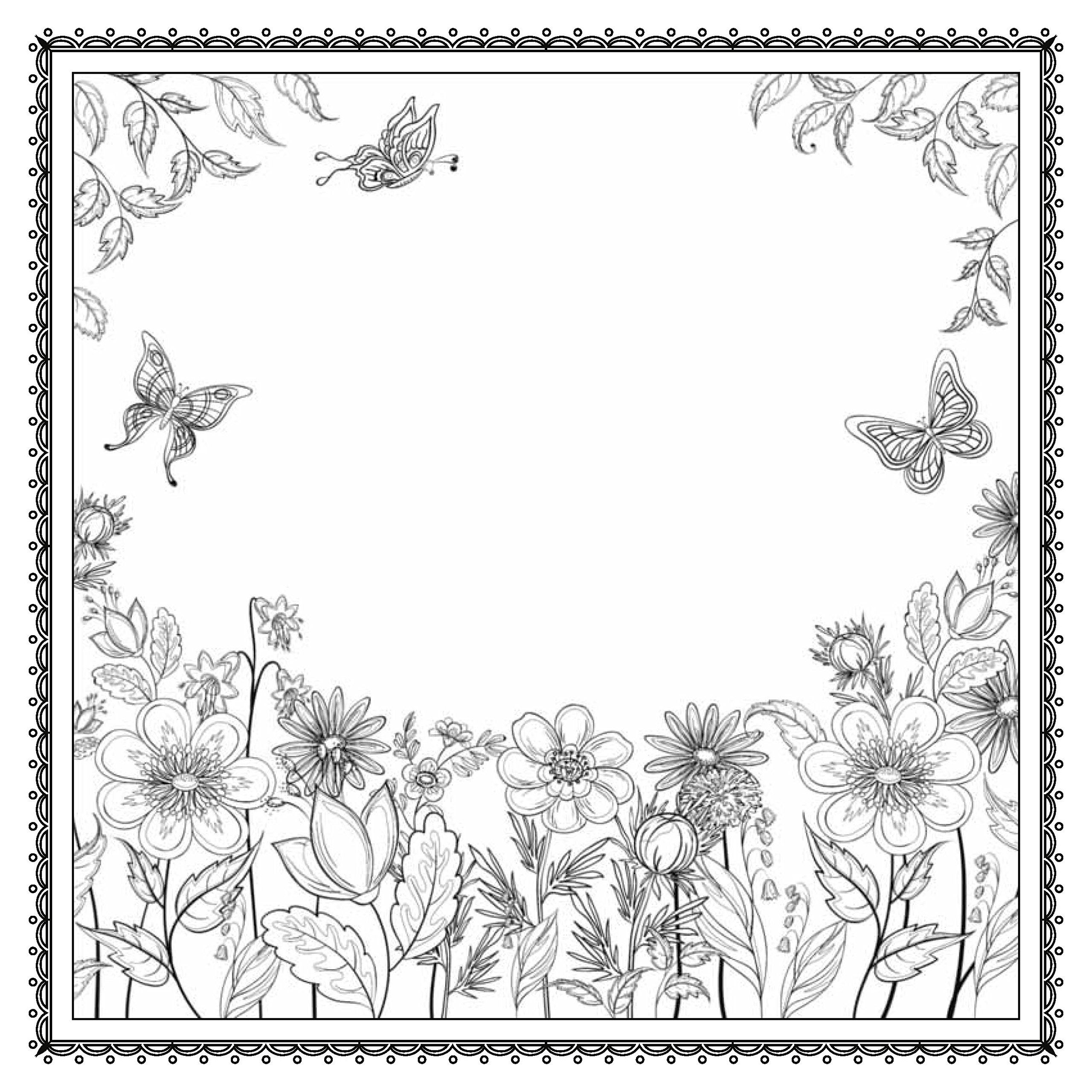 Icolor Flowers Coloring Pages Nature Garden Coloring Pages