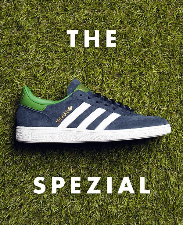 Mens Navy & White Adidas Spezial Trainers | Adidas casual