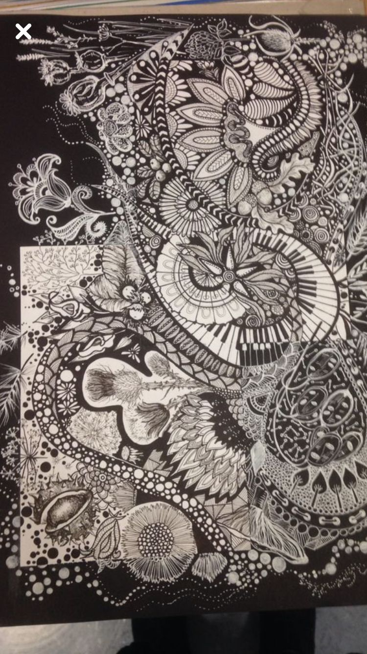 A leaving card zentangle drawing pinterest leaving cards