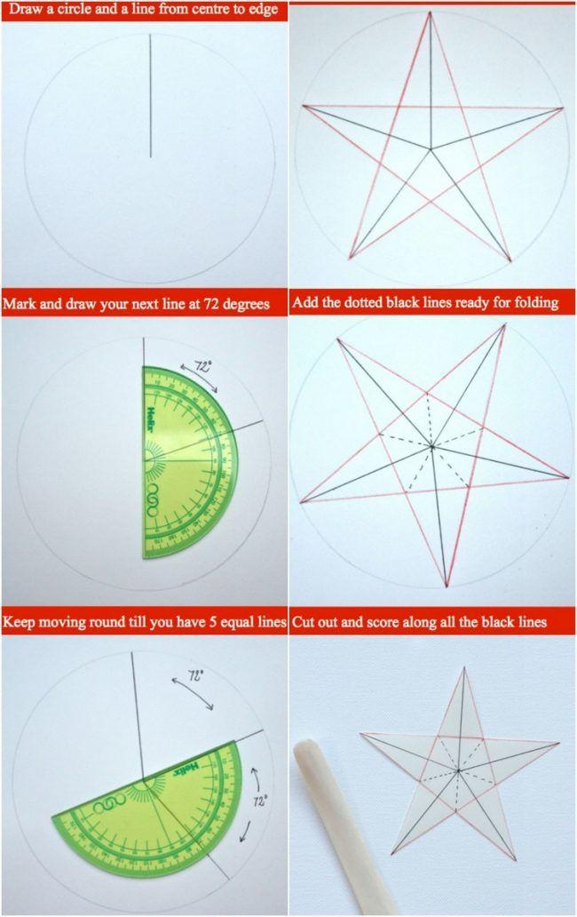 Weihnachtsdeko Selber Basteln 3d Papier Sterne Zeichnen