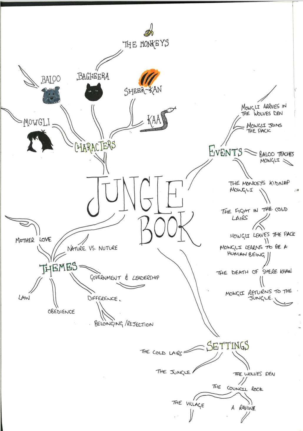 Concept Map Book.Jungle Book Mind Map Deborah Gillott Pinterest Concept Design