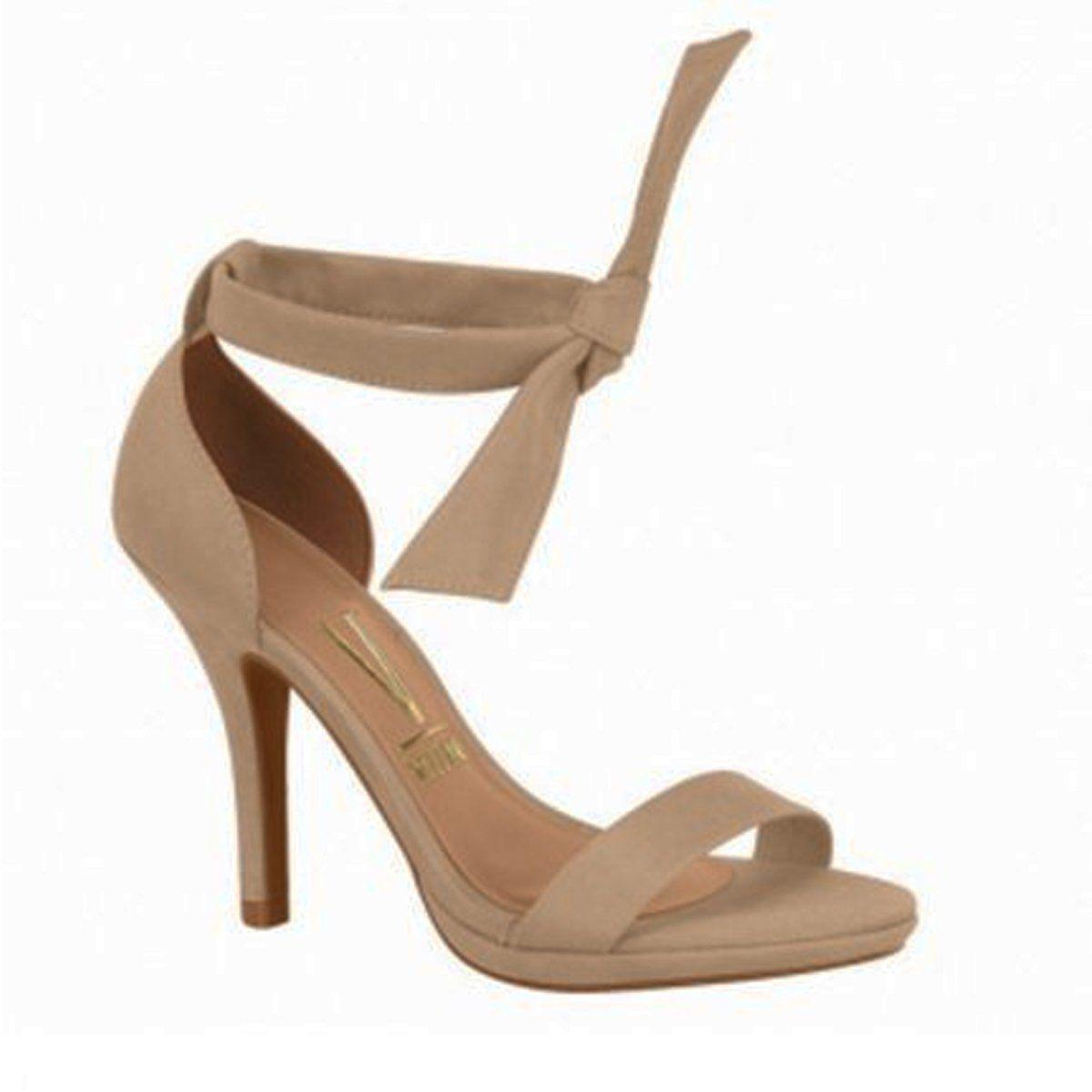 36e7b427b Compre Online Sandália de salto fino com laço no tornozelo Vizzano 6210.458