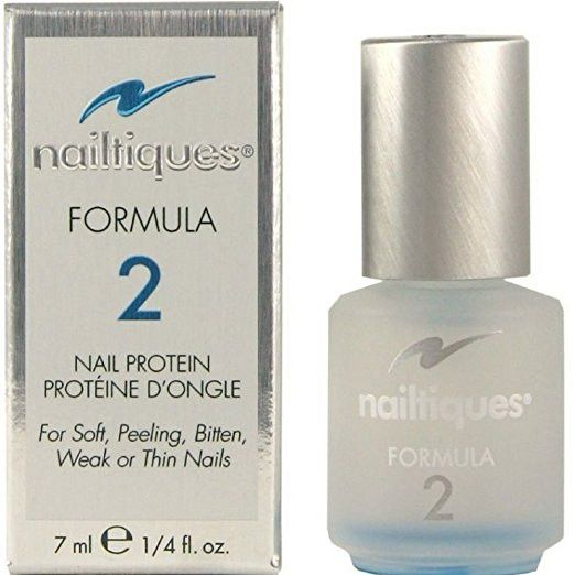 Nailtiques Formula 2 0.25 oz. Nailtiques Formula 2 Nail Protein is a treatment for nails that are soft, peeling, split, or just will not grow. This formula consists of a unique blend of protein and conditioners. The protein immediately acts to help bond nails that are splitting or peeling. Formula 2 also helps to strengthen the nail resulting in long, strong and healthy nails.