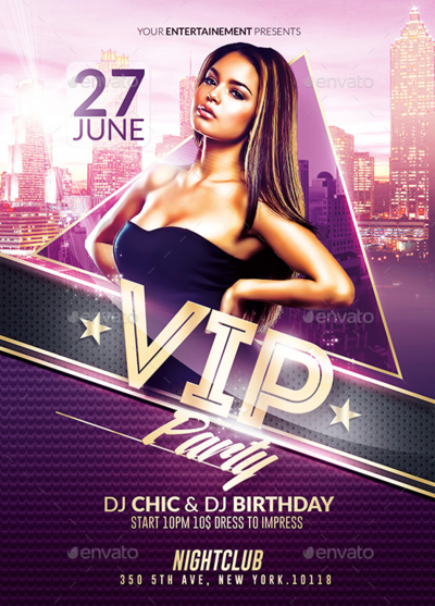 Classy Vip Party  Psd Flyer Template By Romecreation  Design