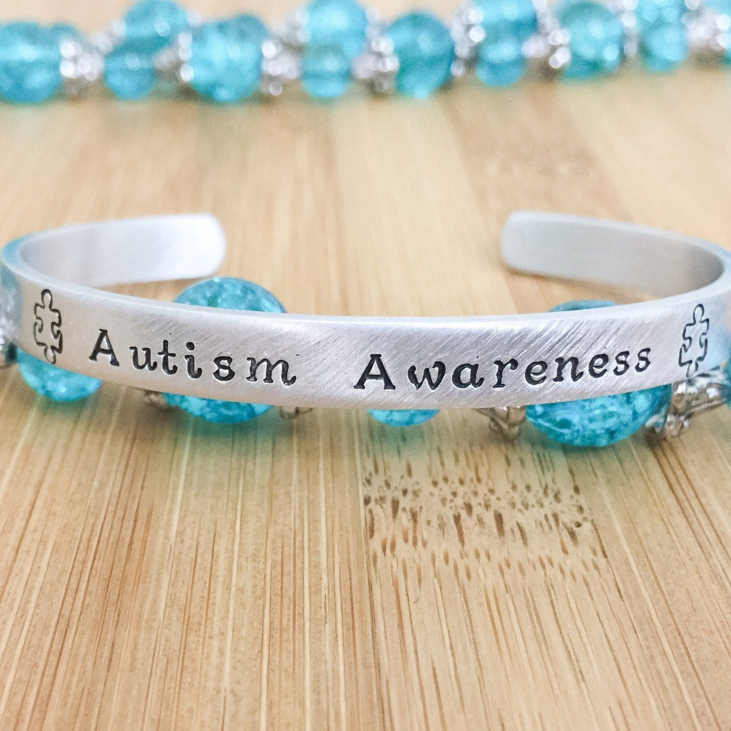 puzzle autism ribbon awareness lapel pin bracelet