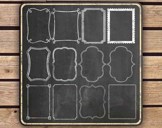 Clipart - Chalkboard Frames and Page Borders - Instant Download - 24 ...