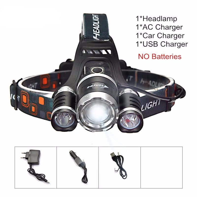 10000 Lumen 4 Mode Headlight Head Lamp With Images Rechargeable Led Flashlight Flashlight Led Flashlight