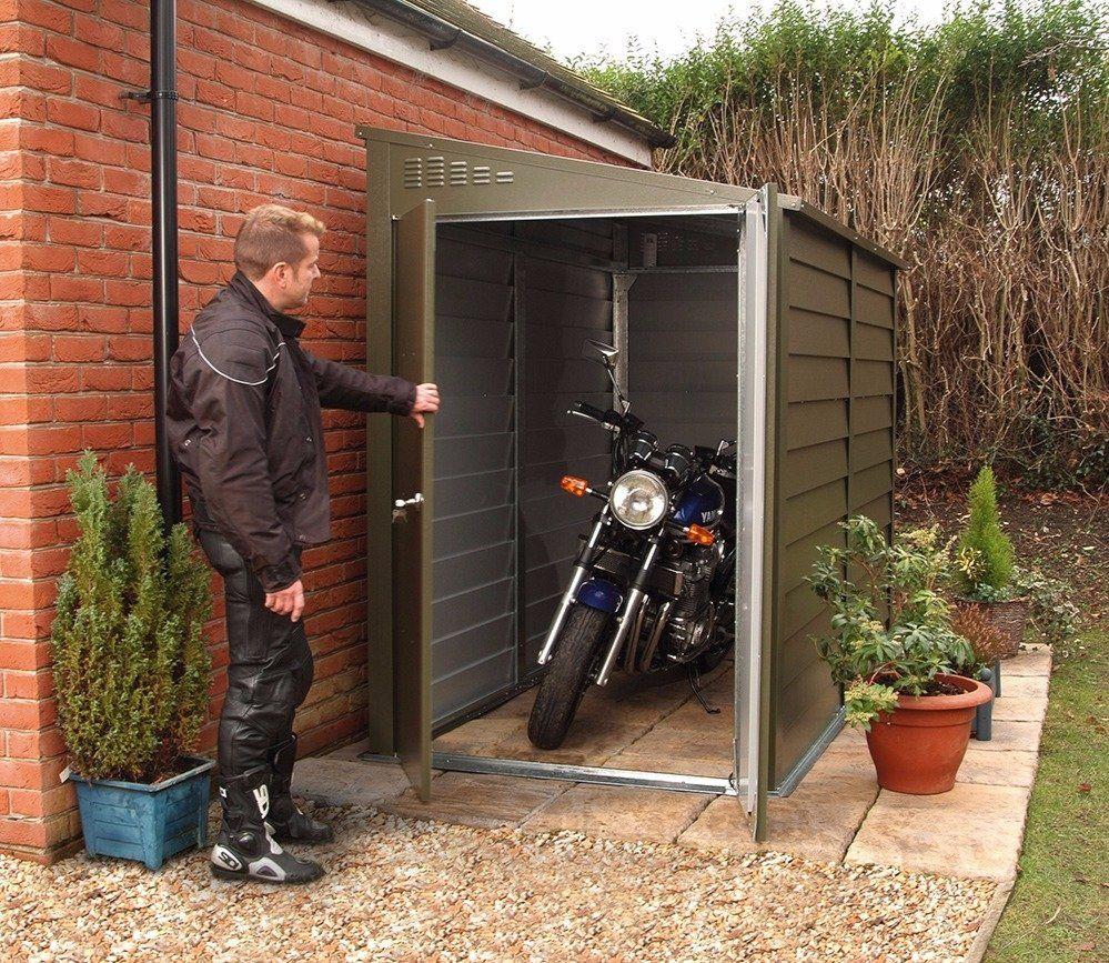 Trimetals 4 X 9 Ft Motorcycle Garage Motorcycle Storage Motorcycle Storage Shed Bike Storage Garage