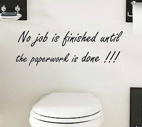 FUNNY STICKER STENCIL STENCIL QUOTE WALL ART DECAL VINYL BATHROOM TOILET TILE