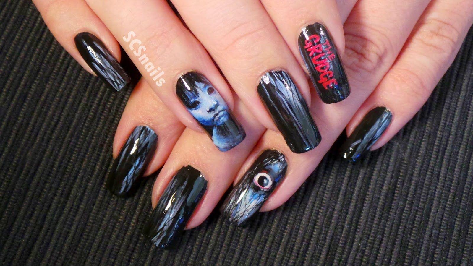 SCS nails | Scary nail art