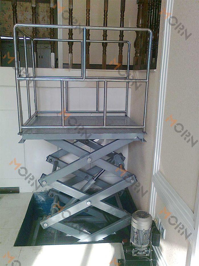 Scissor wheelchair lift, no occupy space, easy operation. Get quote here: mf@sinicmech.com