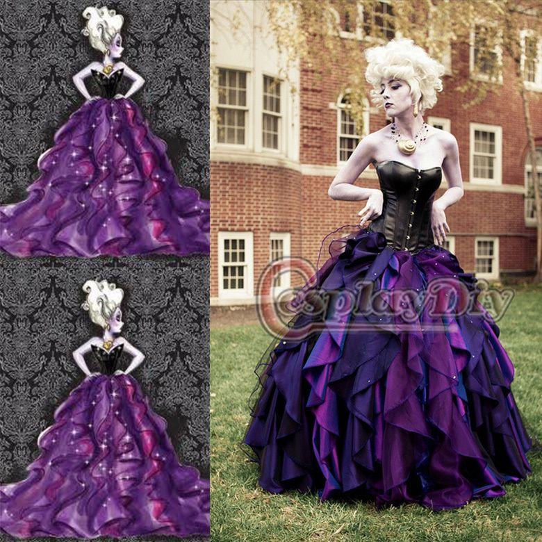 Kleine Meerjungfrau Meer Hexe Ursula Kleid Prinzessin Kleid Cosplay ...