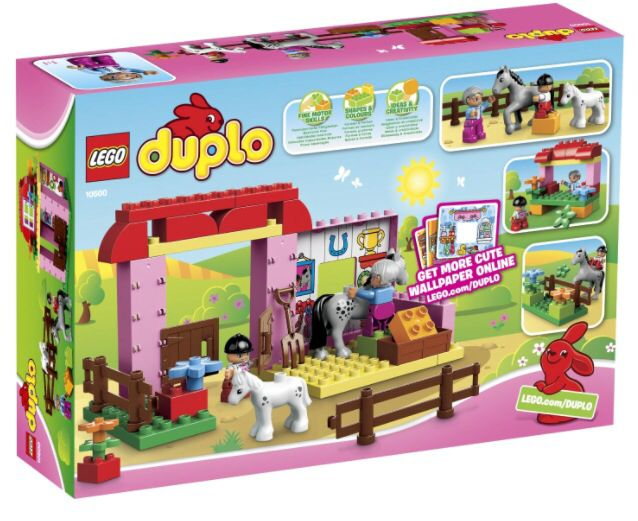 Cute Duplo horse stable.