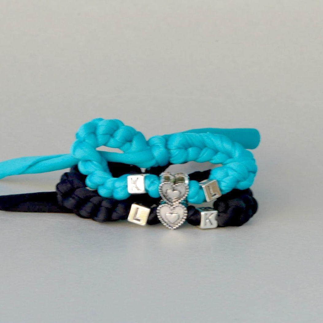 2nd Wedding Anniversary Gifts For Men: 2 Heart Charm Bracelets,Wedding Gift Groom Bride,2nd