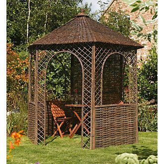 Rowlinson Willow Gazebo 2 48 x 2 15 x 2 65m   Gardening