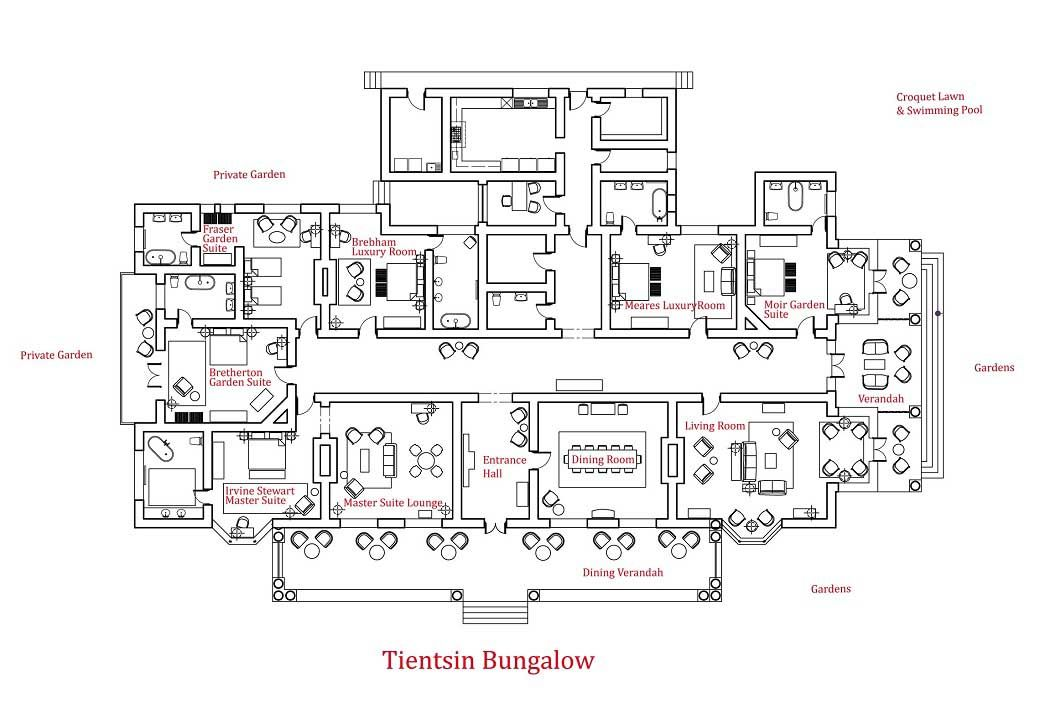 Tientsin Bungalow House Floor Plans Very Large Size Homescorner Big Floorplan Original Main