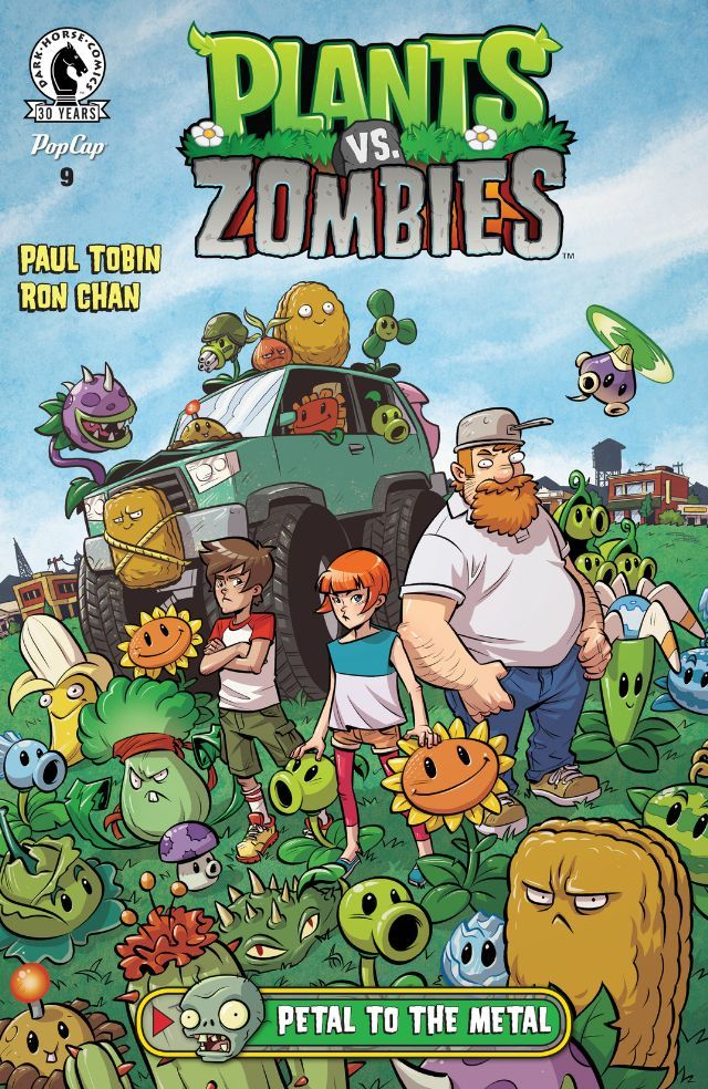 Plants Vs Zombies 9 Petal To The Metal Comics By Comixology Plants Vs Zombies Dark Horse Comics Zombie