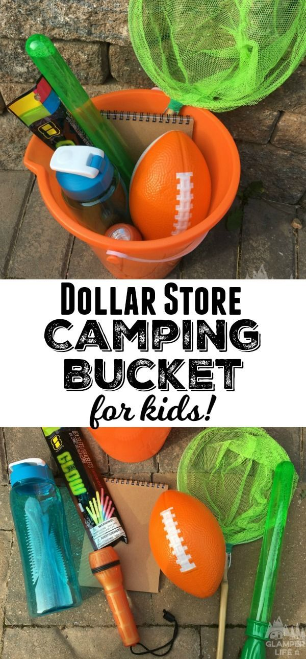 Dollar Store Camping Bucket For Kids