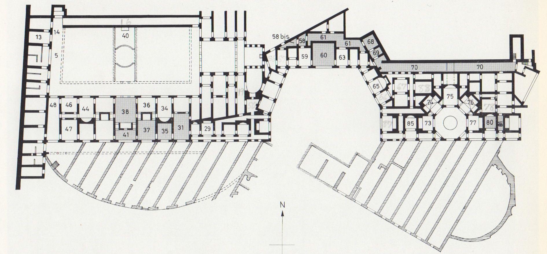 053 Augustus 27bc To 98ad Trajan Plan Of Domus Aurea Or