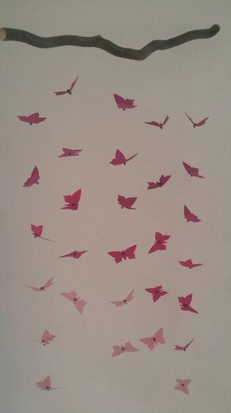 Mobile Schmetterlings Mobile Baby Deko Fenster Fruhling Ein