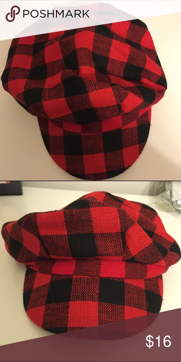 5dad704a578fe 5️⃣Red   Black Plaid Hat Cute red and black plaid hat. New with tags!  Kensie Accessories Hats