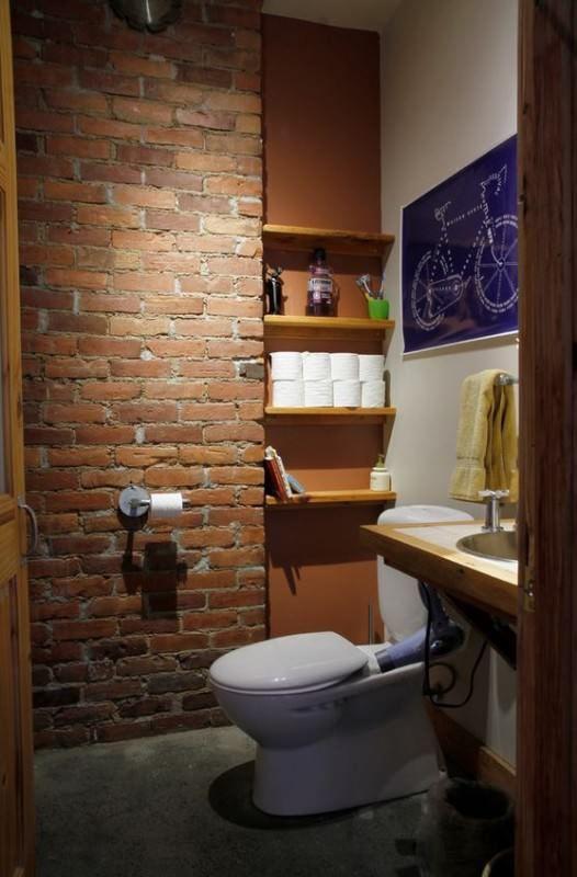 Decora o com parede de tijolinho vista parede de - Amueblar piso pequeno barato ...