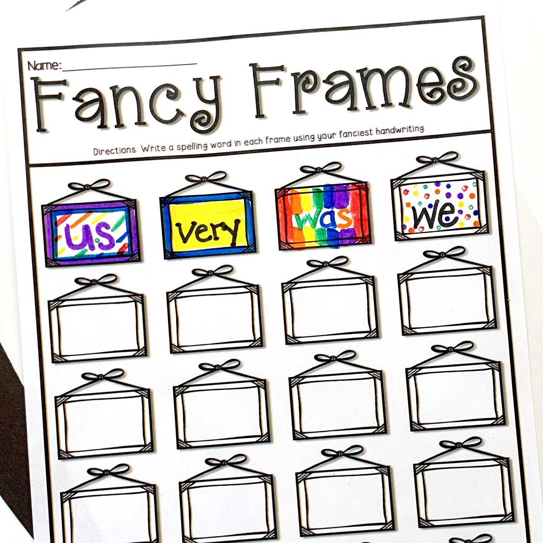 Spelling Practice In A Snap Fun Word Work Activities First Grade Words Sight Words Kindergarten [ 1535 x 1535 Pixel ]