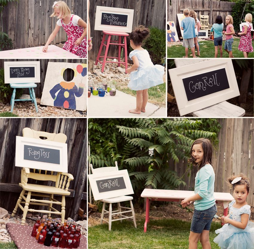 12 Fun Circus Carnival Party Games: Love The Chalk Board Signs... Will Have