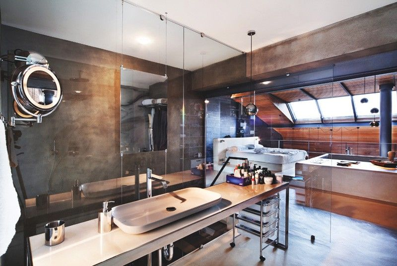 Modern Loft Interior Design with Wood and Creative Industrial