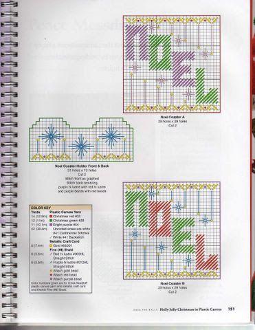 Plastic Canvas Christmas Coaster Patterns.Plastics Canvas Navidad Sonia Escaurido Picasa Web