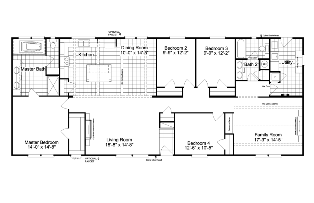 Floor Plan The Carrington 74 C