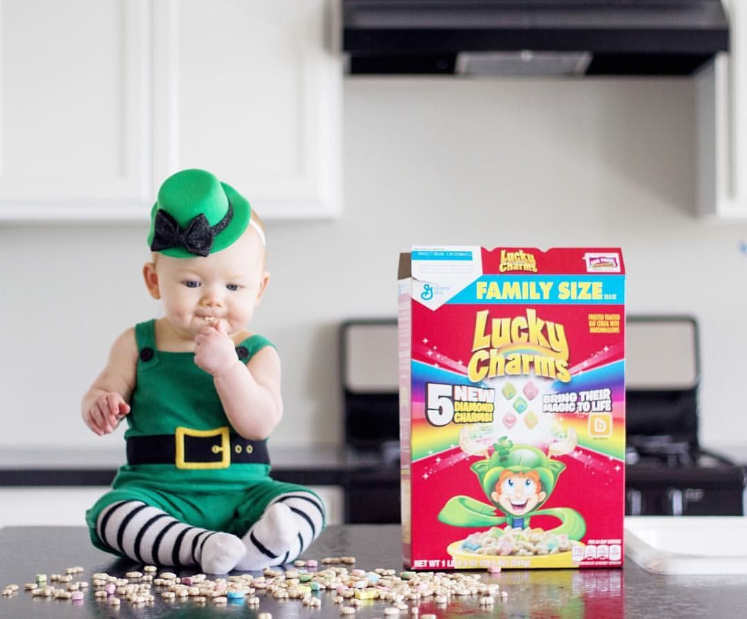 Baby Leprechaun Lucky Charms Jess Oakes Positively Oakes - Dad turns his 6 month old son into real life leprechaun for st patricks day