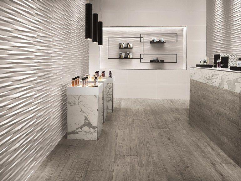 White-paste 3D Wall Cladding BLADE White-body wall tiles ...