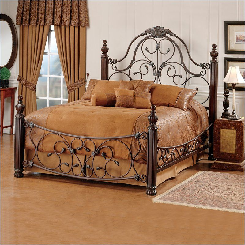 Hillsdale Bonaire Brushed Bronze Queen Size Bed Set with