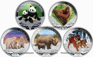 Tuvalu 2011 Wildlife in Need Orangutang $1 Pure Silver Dollar Proof with Color