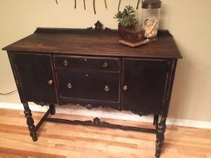 Solid Wood Vintage Sideboard Buffet Tv Stand Vanity Ottawa