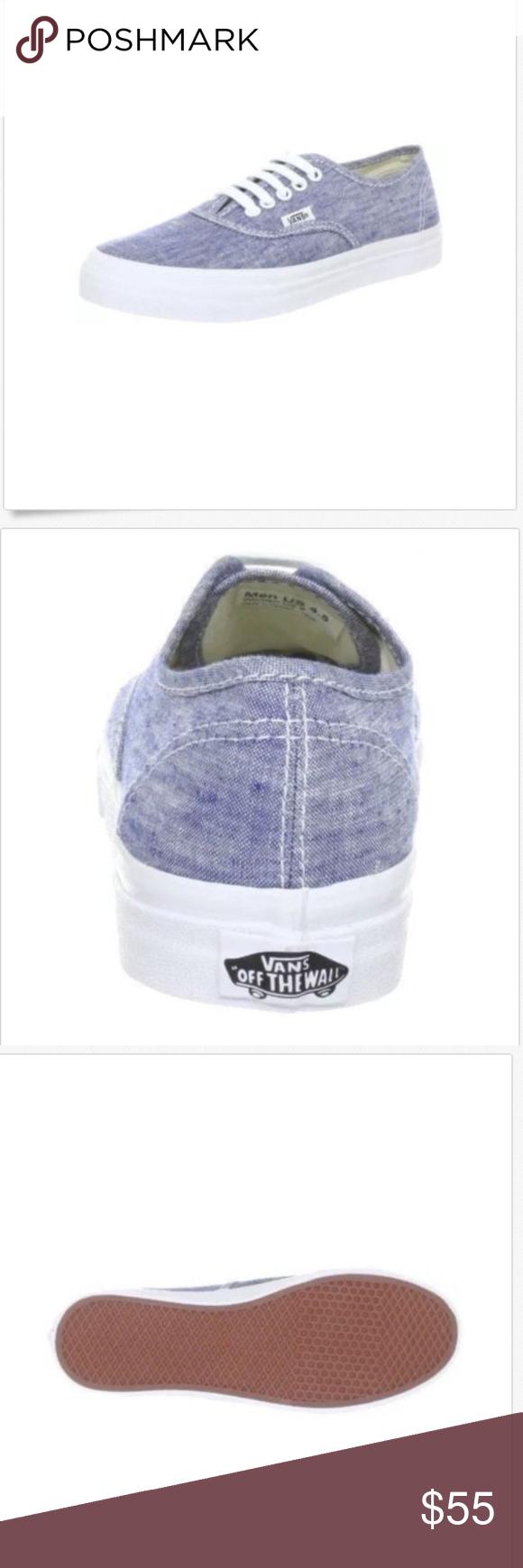 9fbfa88a7a Vans Authentic Slim Chambray Blue True White Shoes Vans Authentic Slim  Chambray Blue True White Shoes Size Men 8.5 Women 10 Brand New In Box Vans  Shoes ...