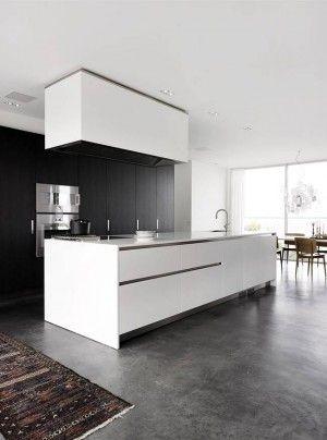 moderne k che mit beton fu boden noch mehr einrichtungsideen gibt es auf. Black Bedroom Furniture Sets. Home Design Ideas