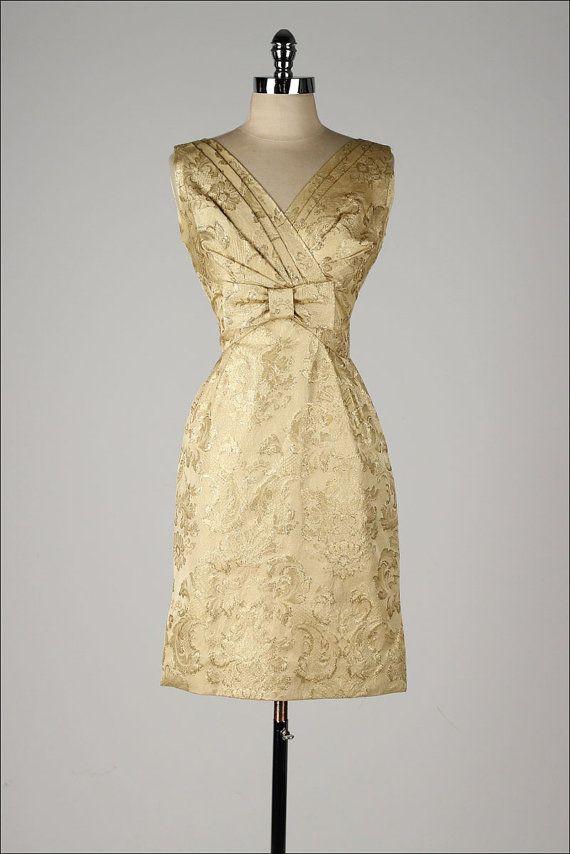 c0366adc8906 1950 s Metallic Brocade Dress