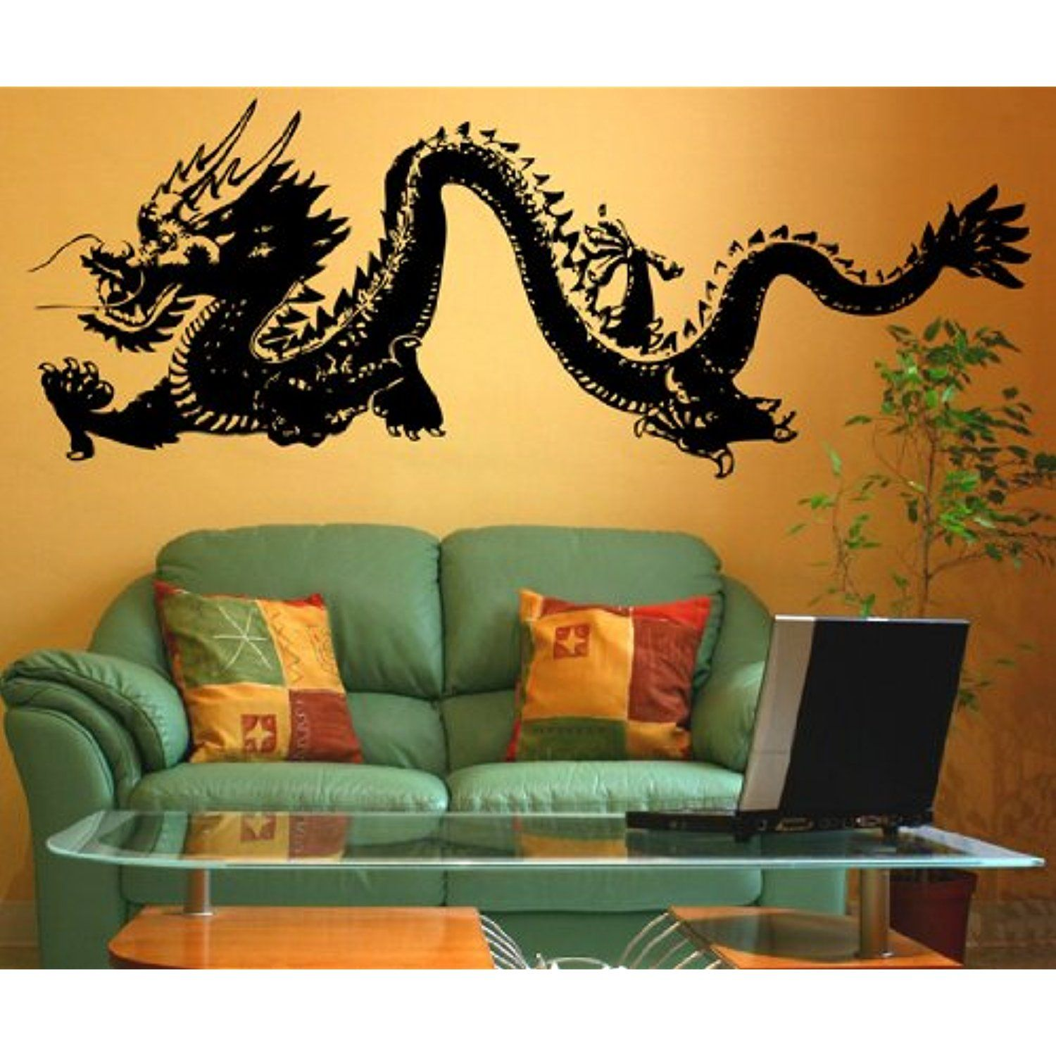 Stickerbrand Asian Decor Vinyl Wall Art Chinese Dragon Wall Decal - Vinyl wall decals asian