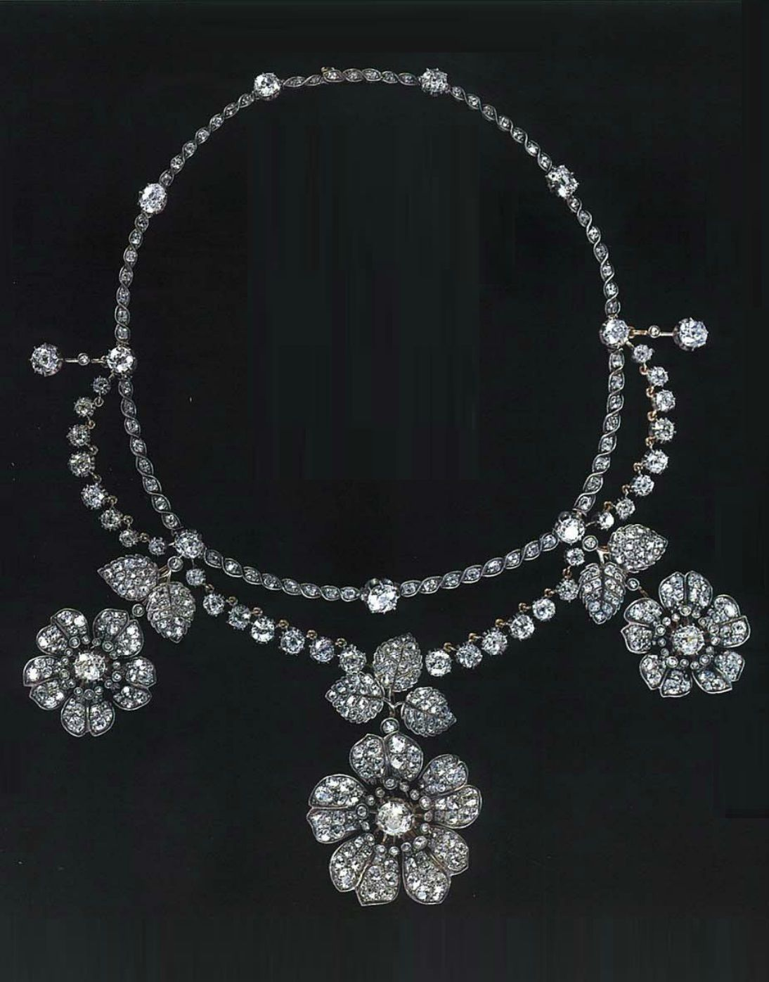 An Antique Diamond Garland Necklace 19th Century In 2019