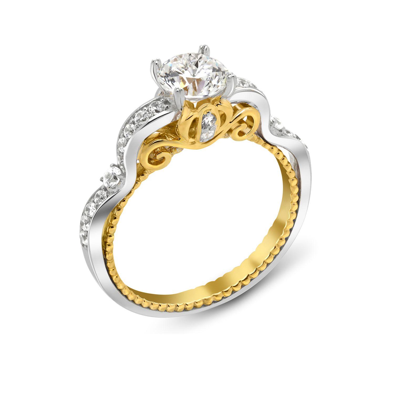 Cinderella Bridal Inspired Engagement Ring from Enchanted Disney